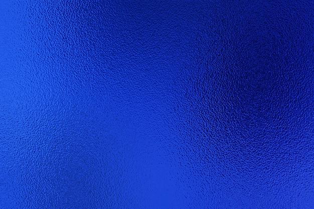 Fundo de decoração de textura de papel de folha metálica azul. papel metalizado