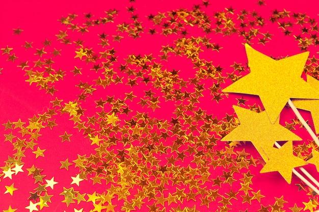 Fundo de decoração estrela de ouro