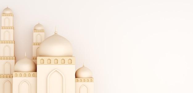 Fundo de decoração islâmica com mesquita