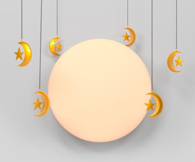 Fundo de decoração islâmica ramadan kareem com lanterna