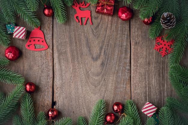 Fundo de decorações de natal.