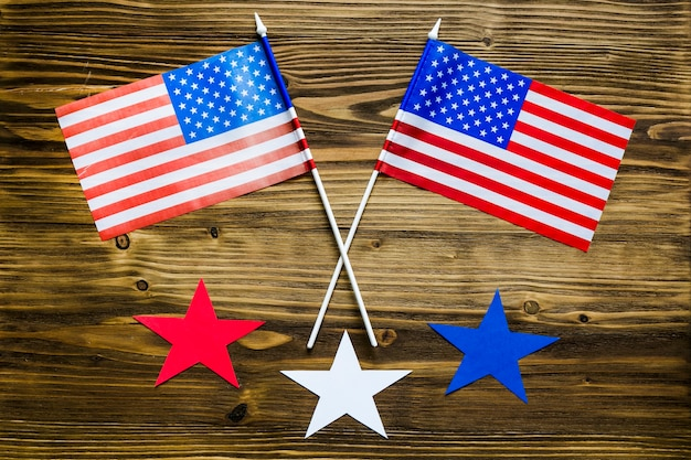 Fundo de dia da independência dos eua com bandeiras