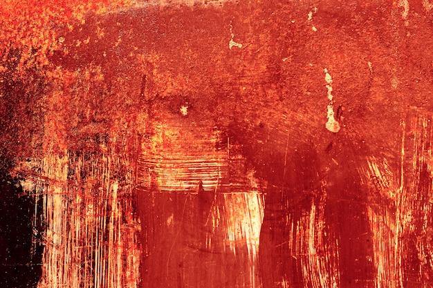 Fundo de dia das bruxas. sangue no fundo da parede de metal