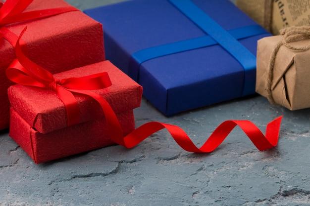 Fundo de dia dos namorados com caixas de presente