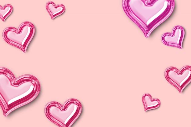 Fundo de dia dos namorados com doce coração.