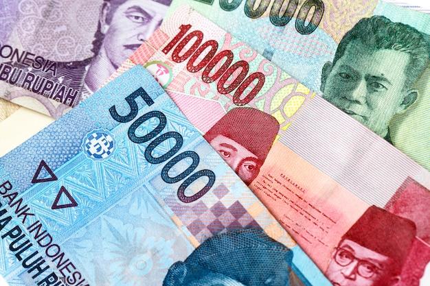 Fundo de dinheiro da rupia indonésia
