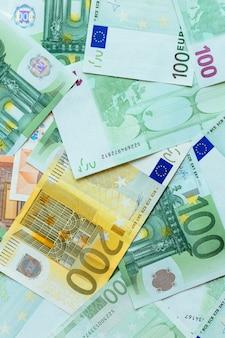 Fundo de dinheiro em euros