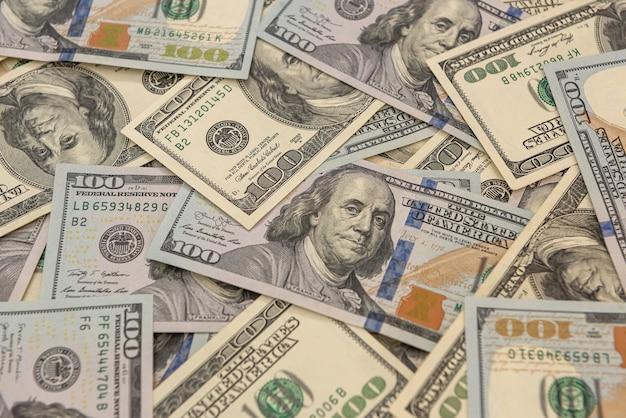 Fundo de dinheiro, notas de dólar americano
