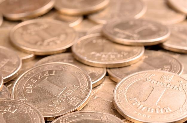 Fundo de dinheiro ucraniano de sucesso financeiro para conceitos de vida rica