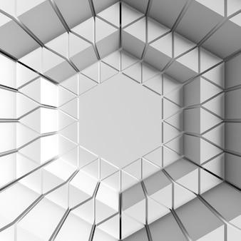 Fundo de efeito abstrato de olho geométrico branco