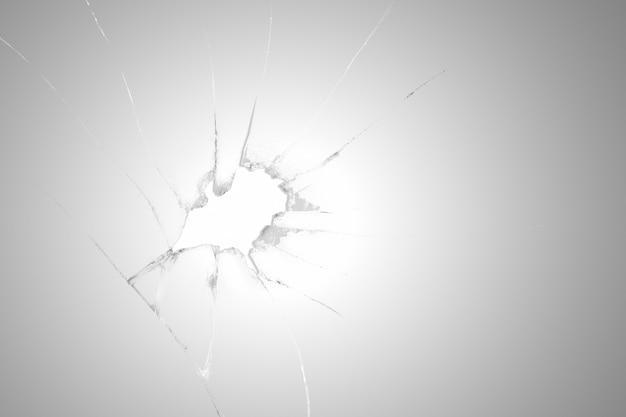 Fundo de efeito realista de vidro rachado