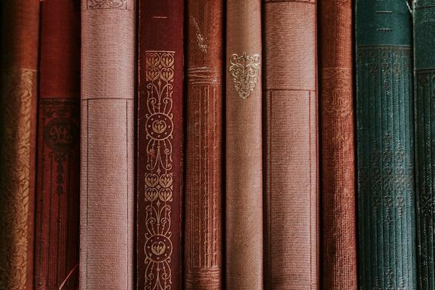 Fundo de encadernação de livro vintage
