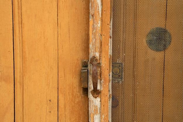 Fundo, de, envelhecido, grunge, porta madeira
