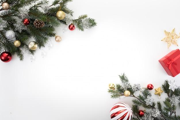 Fundo de espaço de cópia de ano novo de natal comemorar o tempo de feliz