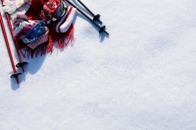 Fundo de esqui de neve