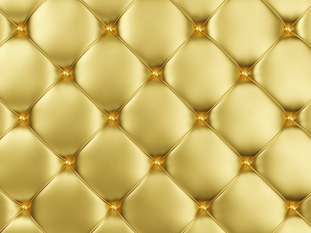 Fundo de estofamento de couro dourado