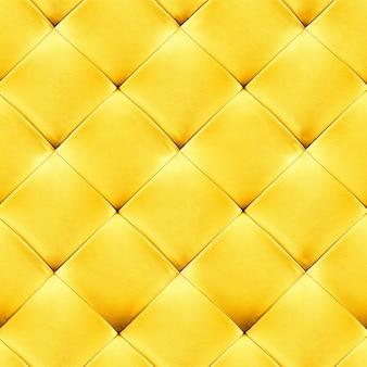 Fundo de estofamento de couro genuíno amarelo. padrão de luxo.