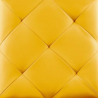 Fundo de estofamento de couro genuíno amarelo.