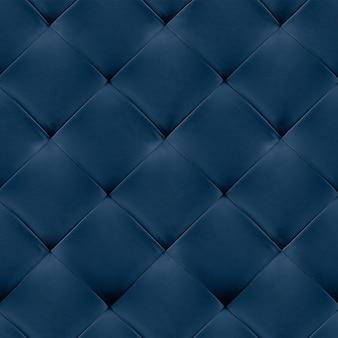 Fundo de estofamento de couro genuíno azul.