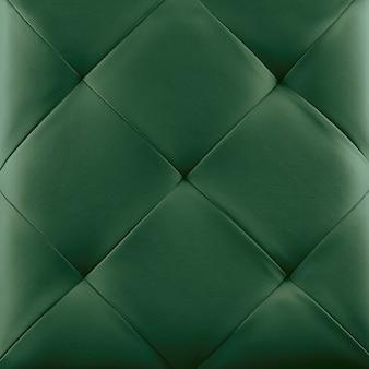 Fundo de estofamento de couro genuíno verde. padrão de luxo.