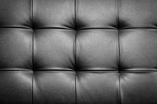Fundo de estofamento em couro genuíno para uma decoração de luxo em tom preto
