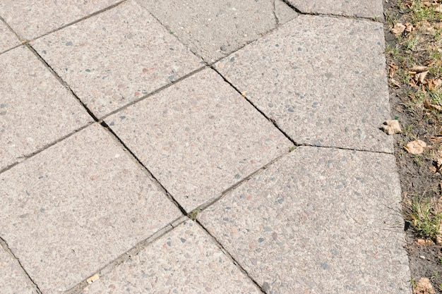 Fundo de estrada de telhas de granito