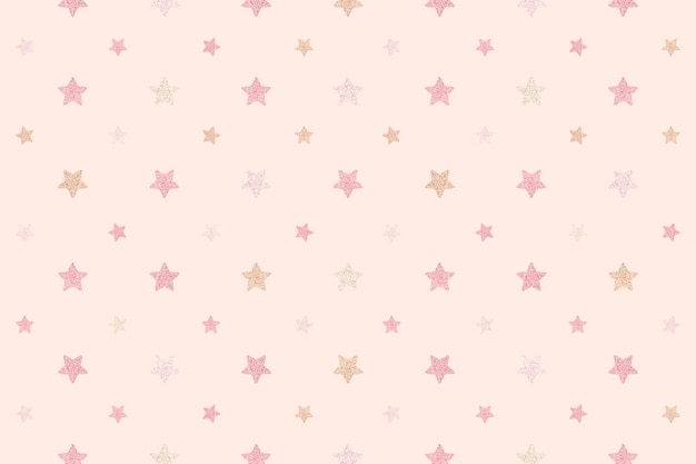 Fundo de estrelas rosa cintilantes sem costura