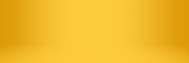 Fundo de estúdio e showroom abstrato com gradiente suave amarelo e laranja