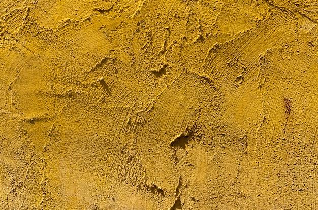Fundo de estuque de parede amarelo