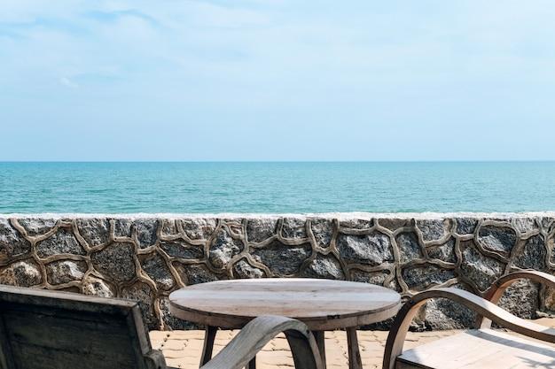 Fundo de exibição de mar tropical