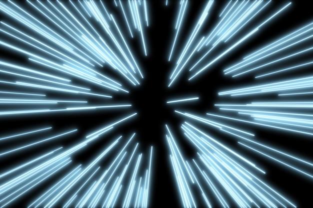Fundo de explosão de brilho azul
