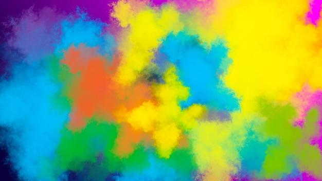 Fundo de explosão de pó multicolorido