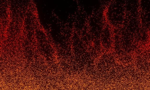 Fundo de faíscas de uma fogueira, fundo abstrato bonito sobre o tema do fogo