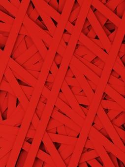 Fundo de faixa de fita vermelha aleatória. ilustração de renderização 3d.
