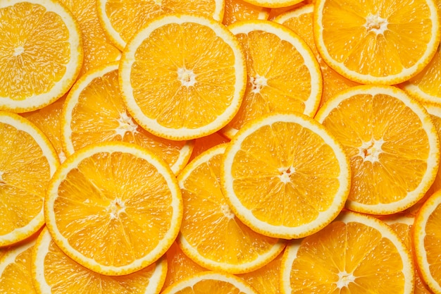 Fundo de fatias de fruta laranja colorida