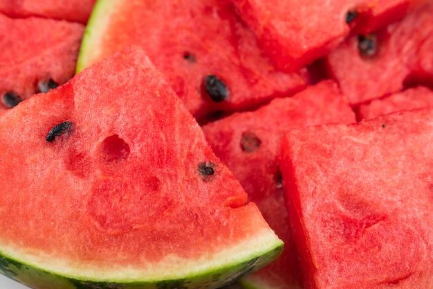 Fundo de fatias de melancia madura fresca
