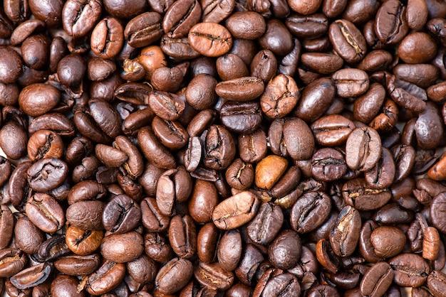 Fundo de feijão de café torrado marrom escuro