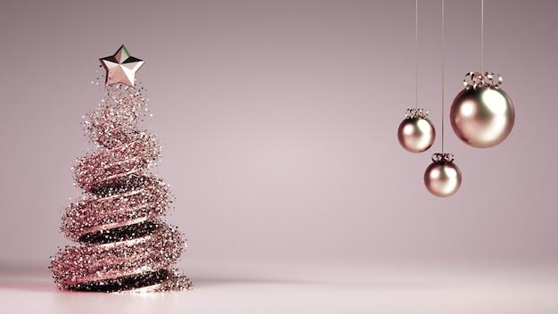 Fundo de férias de natal de ano novo de luxo bonito.