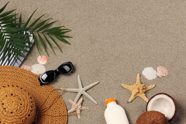 Fundo de férias de praia