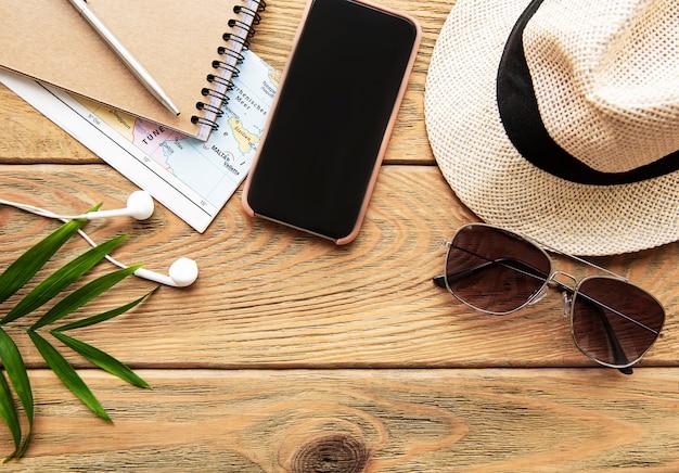 Fundo de férias de verão. conceito de viagens