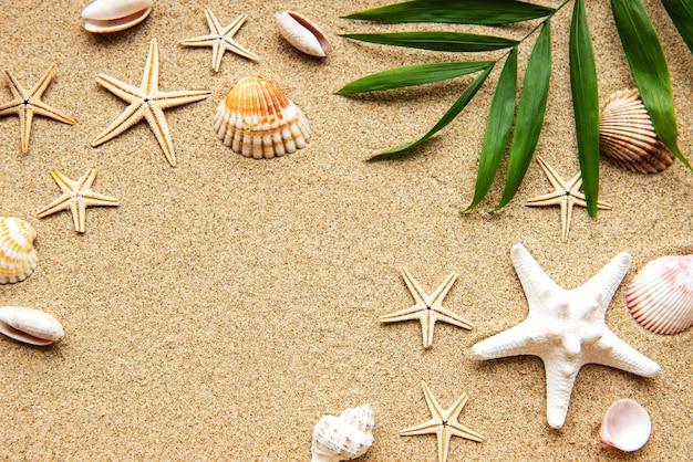 Fundo de férias de verão no mar com espaço para o texto