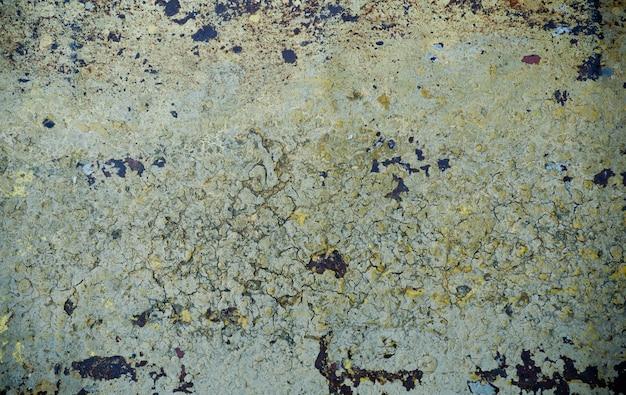 Fundo de ferrugem metal, aço de decomposição, textura de metal com arranhões e rachaduras, parede de ferrugem, textura de ferrugem de ferro velho metal