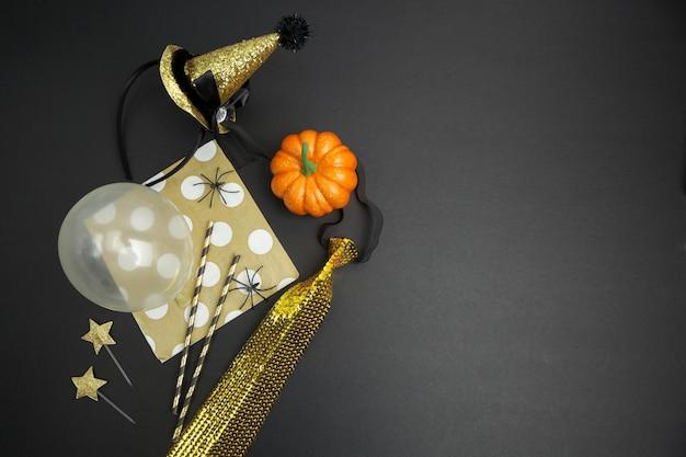 Fundo de festa de halloween. vista de cima. postura plana