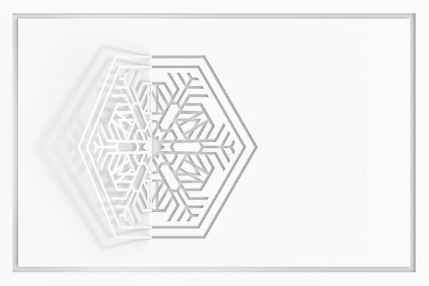 Fundo de floco de neve de papel