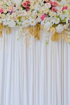 Fundo de flor de decoração de casamento