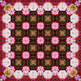 Fundo de flor para embalagem de papel, cobre, tecido. um fundo de flores cultivadas, a vista superior.