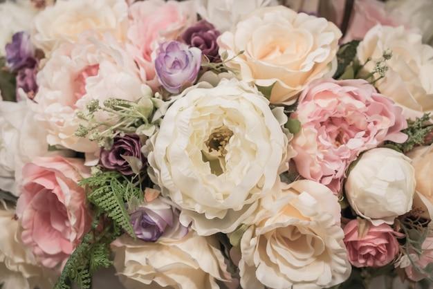 Fundo de flores de buquê Foto gratuita