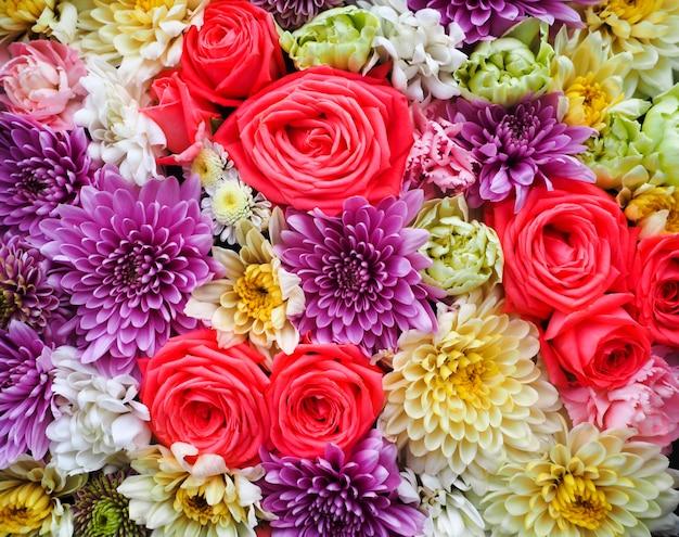Fundo de flores lindas para a cena do casamento