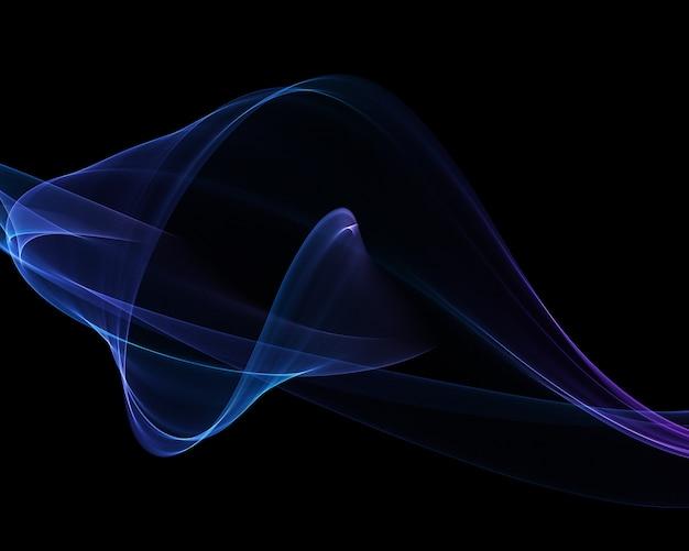 Fundo de fluxo 3d abstrato
