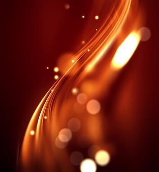 Fundo de fogo abstrato com linhas suaves